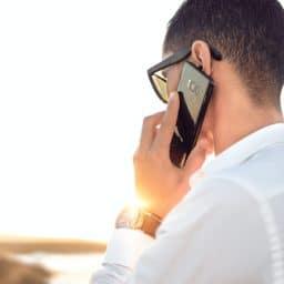 Man makes a phone call.
